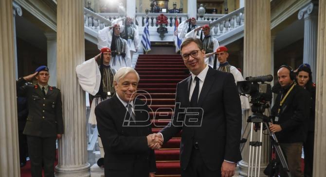Pavlopulos sa Vučićem: Ostaviti iza sebe Balkan ratova, konflikata i razlika (VIDEO)