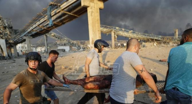 Novi bilans: U eksploziji u Bejrutu 135 mrtvih (VIDEO)