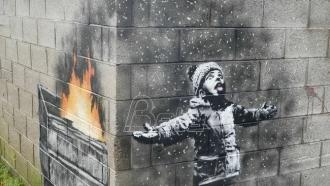 Prodat Benksijev mural u Velsu za više od 100.000 funti
