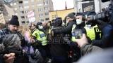 Protest protiv restriktivnih mera u Stokholmu