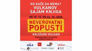 Fantastičan start Vulkanovog sajma knjiga! Od 18. do 24. oktobra