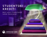 Do diplome uz pomoć studentskih kredita Komercijalna banke