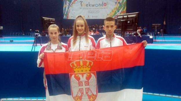 Tekvondisti Srbije osvojili tri medalje na EP za kadete