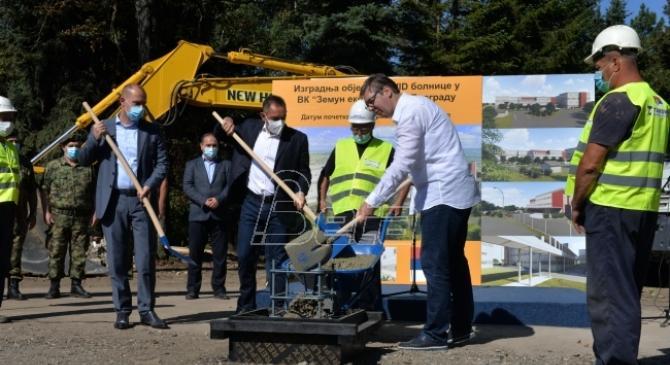 Vučić: Nova KOVID-bolnica kod Beograda gotova do 1. decembra