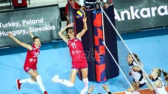 Odbojkašice Srbije pobedom počele odbrani evropskog trofeja