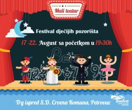 Festival dečjih pozorišta 'Mali teatar' od 17. do 22. avgusta u Petrovcu
