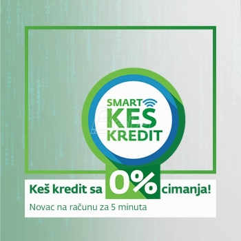 Sberbank 'Smart keš kredit', jedini 100% digitalni keš kredit