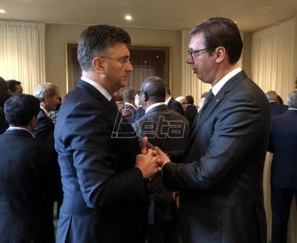 Vučić i Plenković u Njujorku o boljim odnosima