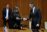 Djordjević potpisao kolektivni ugovor izmedju NSZ i njenog sindikata (VIDEO)