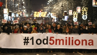 Novi protest Jedan od pet miliona u Beogradu