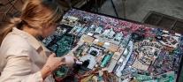 Umetnica iz Niša napravila mozaik grada od elektronskog otpada
