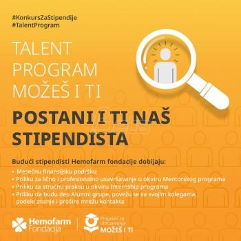 New competition for Hemofarm Foundation scholarships