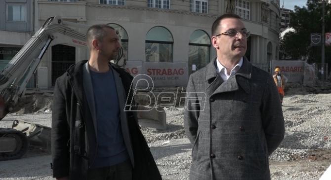 Bastać i pristalice blokirali radove u centru Beograda. SNS: Bastać demolira grad i sprečava završetak radova (VIDEO)