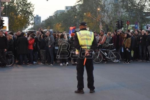 Protest u Novom Sadu: Podrška 'Maršu za nauku'