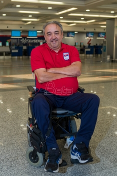 Dimitrijevic won silver in the cone throw at the Paralympic Games