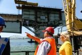 Na mostu preko reke Save kod Ostružnice postavljanje poslednjih delova konstrukcije