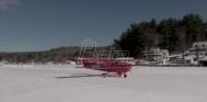 Zaledjeno jezero kao aerodromska pista (VIDEO)