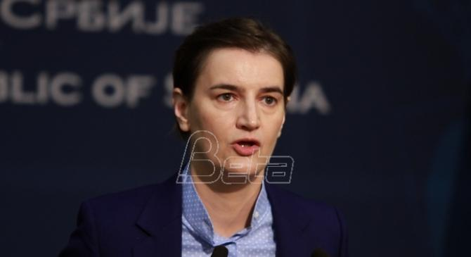 Brnabić: Nema smena u Vladi do izbora