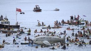 Aktivisti za zaštitu životne sredine protestuju tokom samita G7