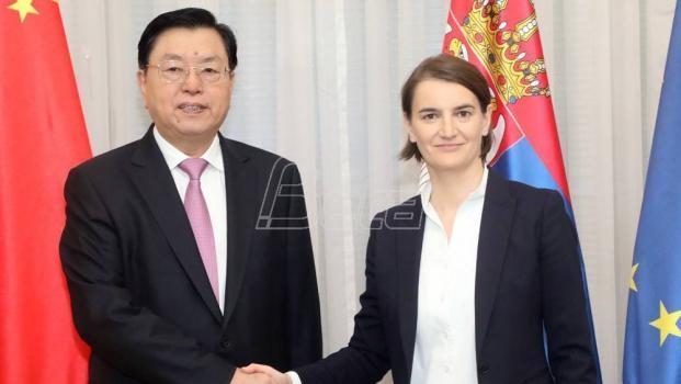 Brnabić i Džang: Prijateljstvo Srbije i Kine osnova je za uspešnu saradnju