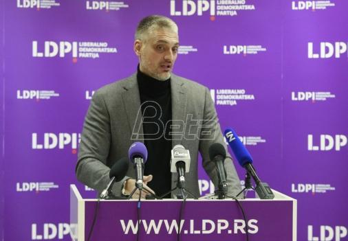 LDP: Skandalozni ispad Šešelja zahteva najoštriju osudu