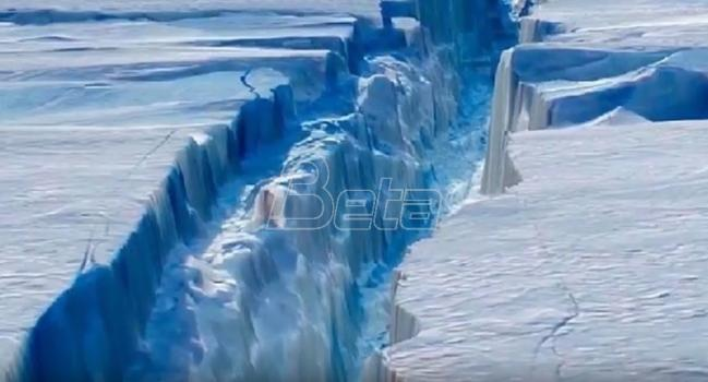 Ogroman ledeni breg odlomio se od Antarktika (VIDEO)