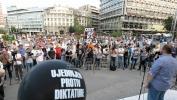 Beograd: Završen protest Protiv diktature na Trgu Republike (VIDEO)