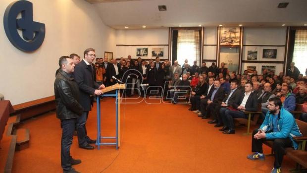 Vučić: Radnicima Goše po 60.000 dinara pomoći